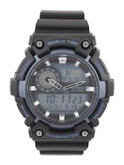 CASIO Youth Series Men Black Analogue & Digital Chronograph Watch AD211