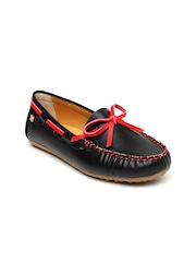 Addons Women Black Solid Loafers
