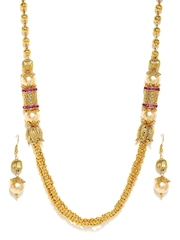 Zaveri Pearls Gold-Plated Royal Style Jewellery Set