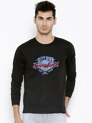 Fort Collins Black Printed Sweatshirt