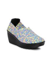 Catwalk Women Multicolour Woven Heeled Boots