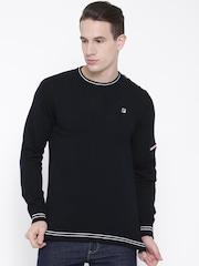 FILA Men Navy Anchor Solid Sweater