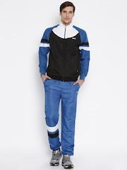 FILA Men Black & Blue Track Suit