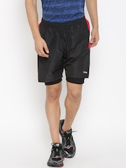 FILA Men Black Gonzo Solid Sports Shorts