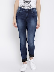 Lee Women Blue Holly Skinny Fit Mid-Rise Clean Look Jeans
