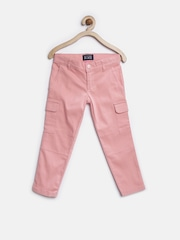 The Childrens Place Girls Pink Cargo Trousers