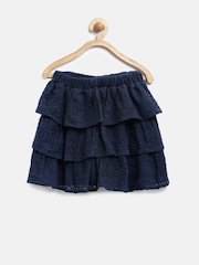 The Childrens Place Girls Navy Lace Layered Skirt