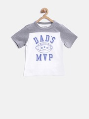 The Childrens Place Boys White Printed Round Neck T-Shirt