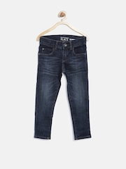 The Childrens Place Boys Navy Washed Super-Skinny Jeans
