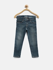 The Childrens Place Boys Blue Super Skinny Mid-Rise Jeans
