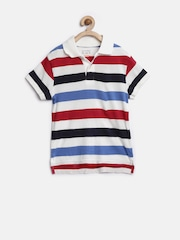 The Childrens Place Boys Multicoloured Striped Polo T-shirt
