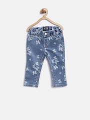 The Childrens Place Girls Blue Butterfly Print Jeans