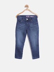 The Childrens Place Girls Navy Washed Jeans