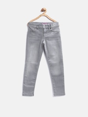 The Childrens Place Girls Grey Washed Jeans