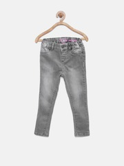 The Childrens Place Girls Grey Jeggings