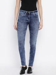 Park Avenue Women Blue Slim Fit Jeans