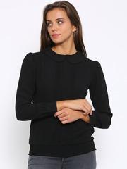 Park Avenue Women Black Solid Blouson Top