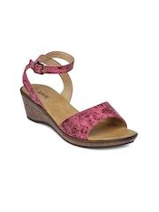 Lavie Women Pink Printed Sandals
