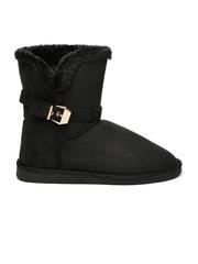 Carlton London Women Black Solid High-Top Flat Boots