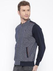 Monte Carlo Navy Patterned Handcrafted Sweatshirt