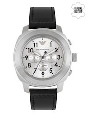 Emporio Armani Men Silver-Toned Chronograph Watch AR6054I