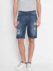 United Colors of Benetton Blue Washed Slim Denim Shorts