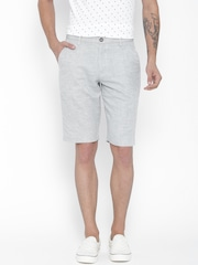 United Colors of Benetton Men Light Grey Shorts