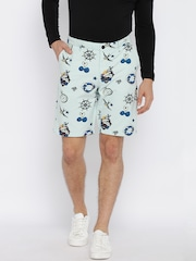 Jack & Jones Men Blue Printed Chino Shorts