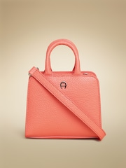 AIGNER Coral Orange Cybill Neat Leather Sling Bag