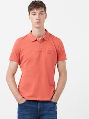 H.E. By Mango Coral Orange Polo T-shirt