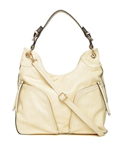 Paprika by Lifestyle Cream-Coloured Shoulder Bag with Sling Strap