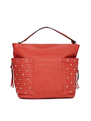 Paprika by Lifestyle Red Studded Hobo Bag