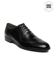 Ruosh Work Men Black Genuine Leather Classic Brogues