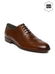 Ruosh Work Men Brown Genuine Leather Classic Brogues