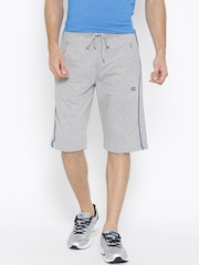 Ajile by Pantaloons Men Grey Melange Shorts