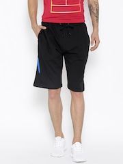 Ajile by Pantaloons Men Black Solid Sports Shorts