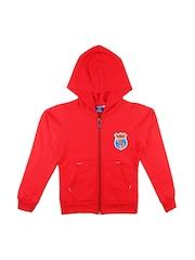 SWEET ANGEL Boys Red Hooded Sweatshirt