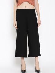 W Women Black Solid Culottes