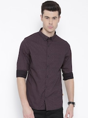 United Colors of Benetton Men Black Printed Casual Shirt