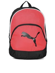 PUMA Unisex Black & Red Team Cat Printed Backpack
