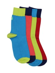 Undercolors of Benetton Men Set of 4 Striped Assorted Above Ankle-Length Socks