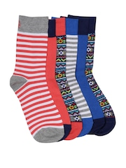 Undercolors of Benetton Men Set of 5 Assorted Above Ankle-Length Socks