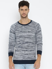 SPYKAR Men Navy Blue Sweater