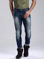 HRX by Hrithik Roshan Men Blue Skinny Fit Mid-Rise Clean Look Jeans