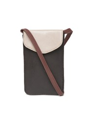 BandBox Women Coffee Brown & Beige Mobile Pouch