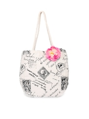 Pick Pocket Off-White Printed Tote Bag
