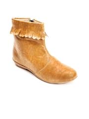 Marc Loire Women Beige Solid Boots
