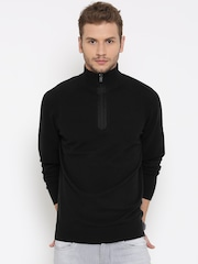 Tommy Hilfiger Men Black Solid Sweater