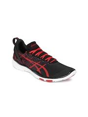 ASICS Women Black & Red GEL-FIT SANA 2 Training Shoes