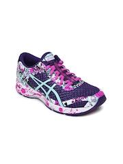 ASICS Women Purple & Green GEL-NOOSA TRI 11 Running Shoes